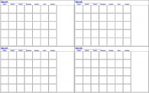 Four Month Calendar | Dry Erase Board | Dry Erase Innovations