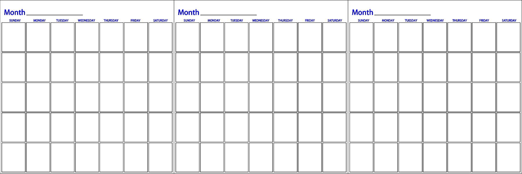 Monthly Wall Calendar : Three month dry erase calendar innovations