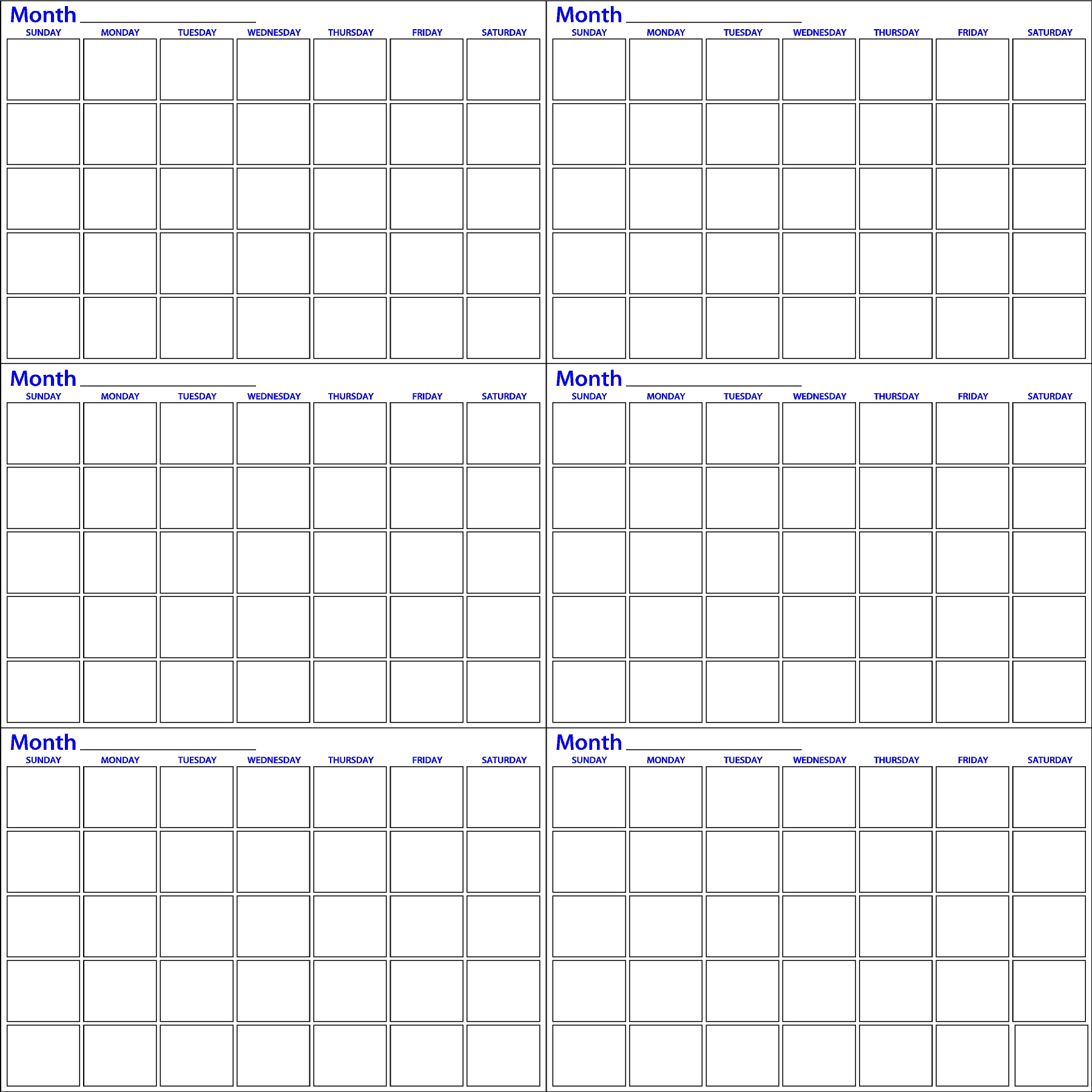 Six Month Calendar Whiteboard Dry Erase Innovations
